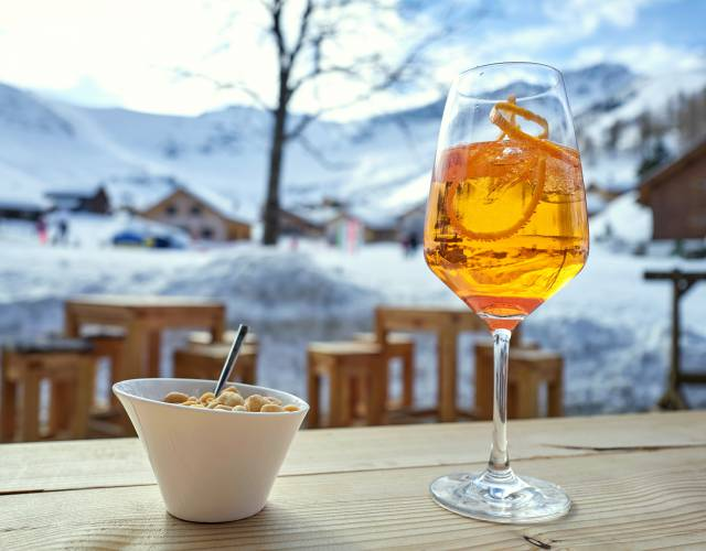 Drink an der Skipiste in Liechtenstein